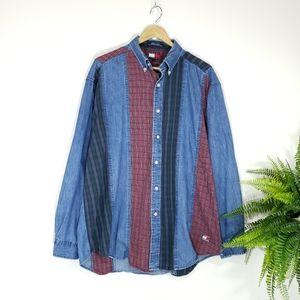 VTG Tommy Hilfiger Denim Button-down Shirt Men's L